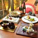 本格和食に洋のエッセンスも愉しめるモダンなコース料理