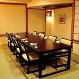 地下の『きやりの間』は4~8名までの宴会・接待に最適です。