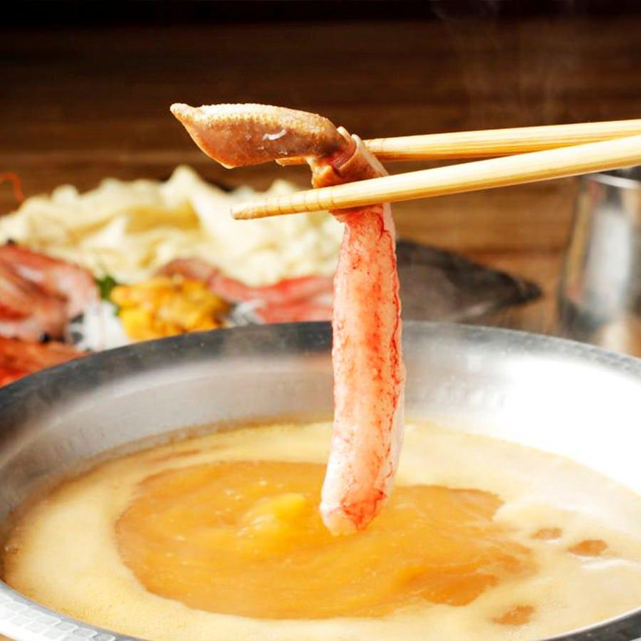 黄金の雲丹と蟹(カニ)の贅沢を愉しむ