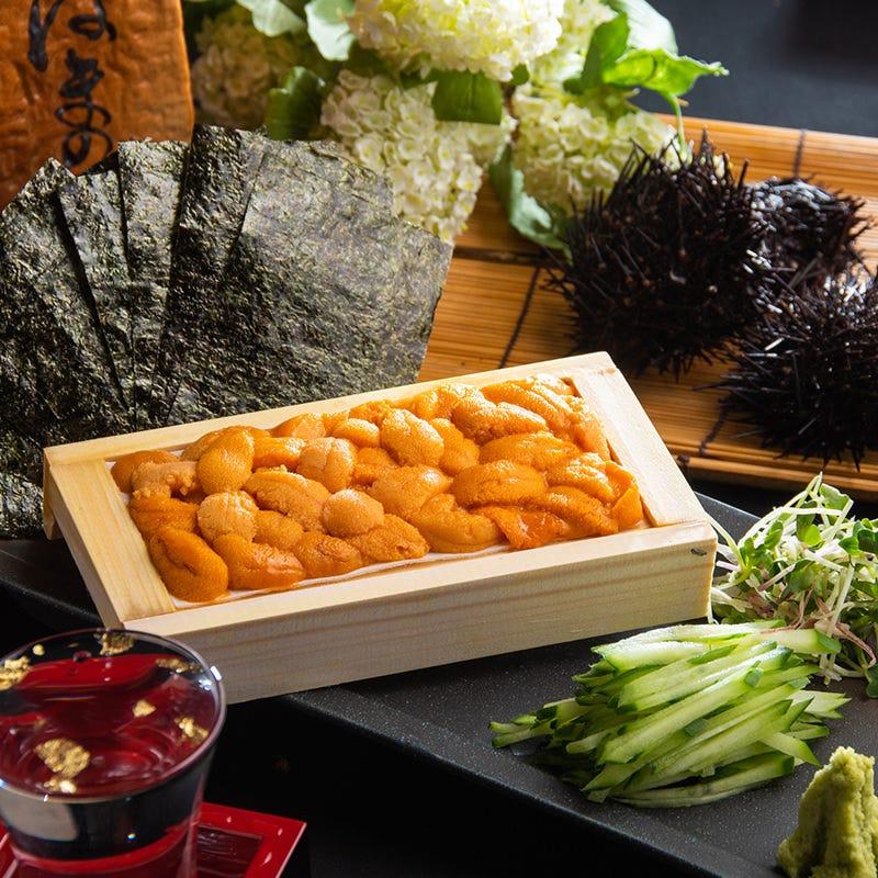 横浜で味わう箱ウニの贅沢。。。