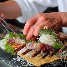 鮮魚のお刺身に馬刺しなど逸品をぜひ