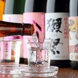 【銘酒】 季節酒や全国各地から仕入れる多彩な日本酒をぜひ