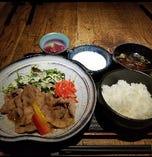 豚肩ロース生姜焼き定食(とろろ付)