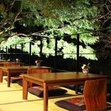 箱根の四季を味わえる川床席(2名席×2卓)(4名席×3卓)