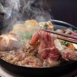 【牛なべ専門店】 全国から厳選した牛肉の多様な料理をご提供