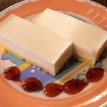 「レアチーズケーキ」