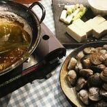 季節限定「ハマグリ鍋」