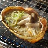 自家製蟹味噌きのこ甲羅焼き