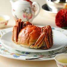 《期間限定》陽澄湖産の上海蟹を堪能