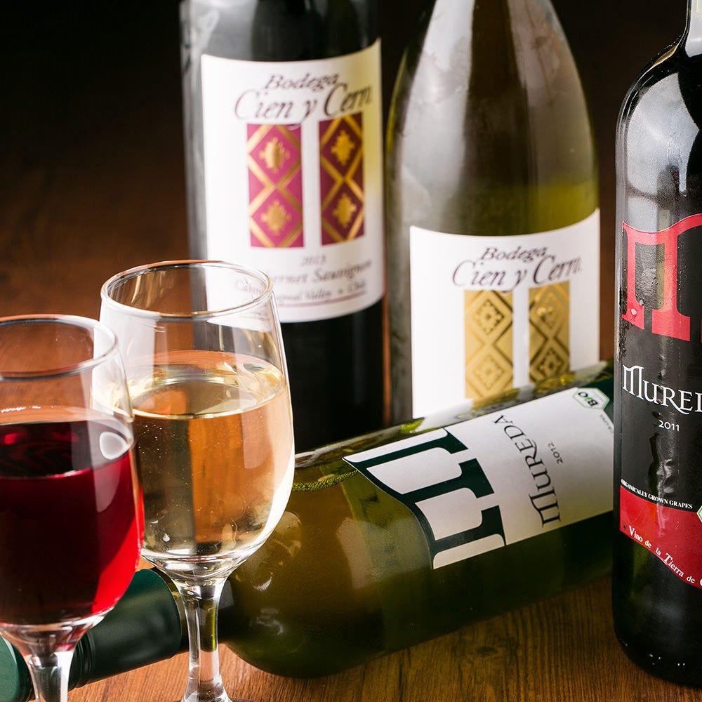世界中から取り寄せた厳選ワイン