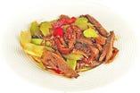 牛肉とセロリの炒め