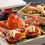 松葉蟹を使ったおせちは毎年大好評!