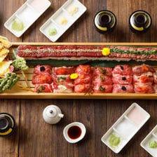 1日3組限定!肉寿司&天麩羅食べ放題