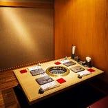 【完全個室 4名様までが4部屋】完全個室  お客様同士の接触を防げる空間です。