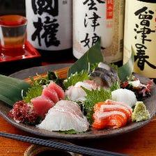 鮮魚刺身の5種盛り