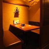 テーブル席個室(~4名様)
