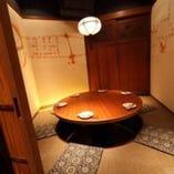 8名様でぴったりのお忍び個室は 大人気。