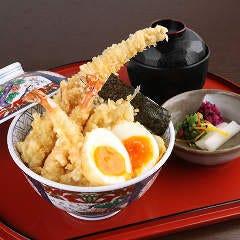 【江戸前天丼 天ぷら6品】ランチタイムのみのご提供です。