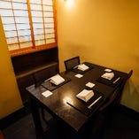 テーブル席半個室(2~4名様)