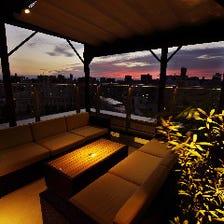 夜景が楽しめるおしゃれな空間