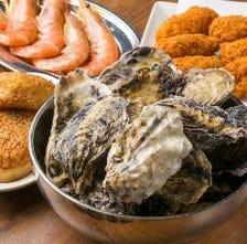焼き牡蠣食べ放題やっています