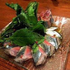鮮度抜群☆旬魚を使ったカルパッチョ