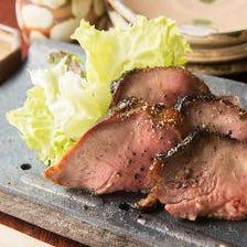 わら焼き燻製豚タン