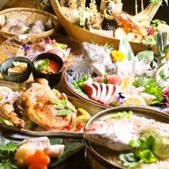 【2時間飲み放題付き】贅沢コース!和牛コウネサラダやウニイクラの茶碗蒸し、サーモン押し寿司等全9品8000円※鍋なし