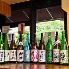 日本酒30種含む2時間飲み放題『銀座じゃのめ極みコース』お刺身盛り、讃岐ホルモンうどん等全9品