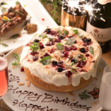 記念日・誕生日⇒8名以上のコース利用でホールケーキプレゼント!