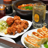 マーボー×餃子×唐揚げ注文でハイボールをサービスいたします!