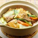 牛バラ豆腐煮込土鍋