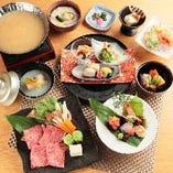 和牛・旬の魚介に加え、旬の味覚を堪能してください