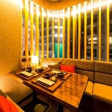 完全個室!新宿の夜景をお届け♪