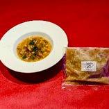 秋田県産桃豚と白インゲン豆のカスレ