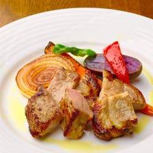 秋田桃豚のステーキ