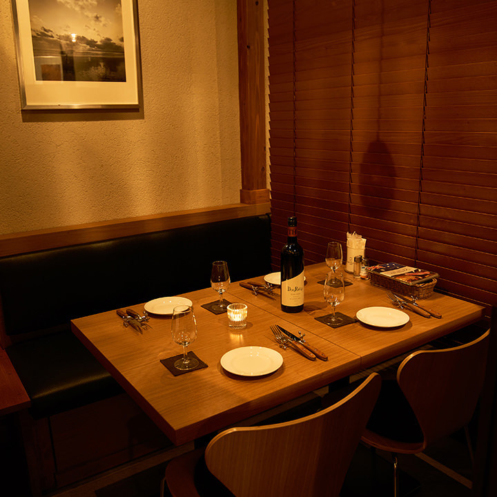 テーブル席・完全個室(壁・扉あり)・2名様~5名様