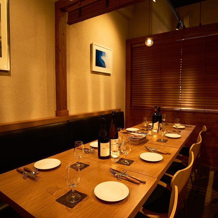 テーブル席・完全個室(壁・扉あり)・6名様~9名様