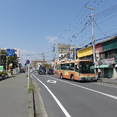 昭和通り(サーファー通り)を北へ・・。