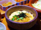 石鍋で熱々を頂くかつ丼定食です。