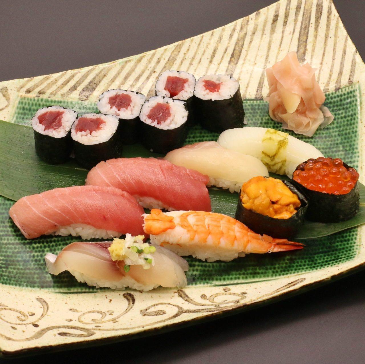 新鮮な厳選のネタを楽しめる寿司