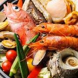鮮度と味は譲れない。自慢の「新鮮魚貝」。