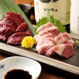 熊本県より 魚冠イチオシ!馬肉刺身 ※系列店舗のお料理です。
