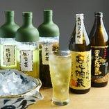 日本酒は勿論、全国のお茶処から厳選した「お茶割り」もお奨め。※系列店舗のドリンクです。