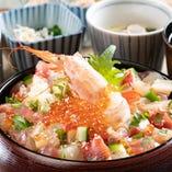 海鮮ひつまぶしの昼膳