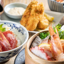 名物!せいろ蒸しと海鮮ご飯の昼膳