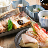 本日の漬け焼き魚の昼膳