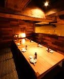 【8名様半個室】落ち着いてお食事やお話のできる空間