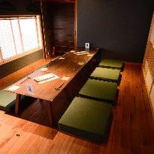 京町屋の雰囲気 和風の完全個室
