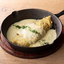 トリュフオムレツのチーズソース